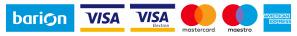 A kényelmes és biztonságos online fizetést a Barion Payment Zrt. biztosítja. Magyar Nemzeti Bank engedély száma: H-EN-I-1064/2013 Bankkártya adatai áruházunkhoz nem jutnak el.