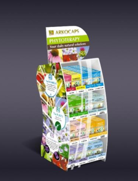 Arkocaps Gyógynövényes Termékek - Display