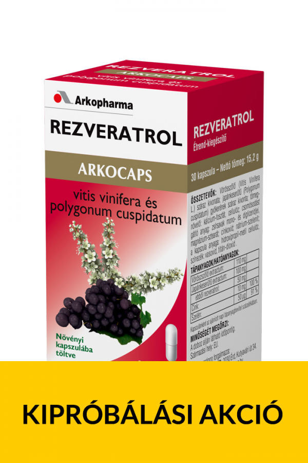 Arkocaps Rezveratrol - Kipróbálás akció